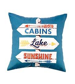 Ruff Hewn Lake Signs Decorative Pillow