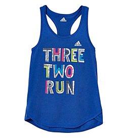 adidas® Girls' 7-16 Three Two Run Tank Top
