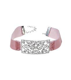 BT-Jeweled Blush Choker Necklace