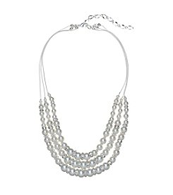 Studio Works® Three Row Pearl And Rondelle Necklace