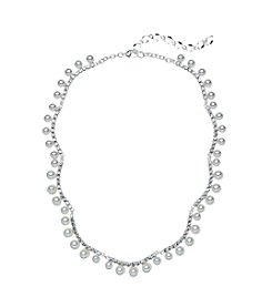 Studio Works® Simulated Pearl And Rhinestone Necklace