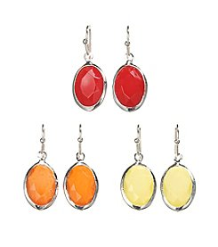 Studio Works® Oval Trio Earring Set