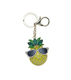 Relativity® Pineapple With Sunglasses Keychain