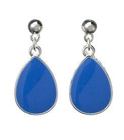 Studio Works® Post Enamel Teardrop Earrings