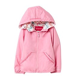 London Fog® Girls' 2T-6X Solid Jacket with Kanga Pockets