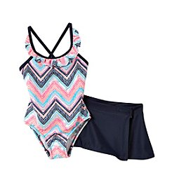 OshKosh B'Gosh® Girls' 2T-6X Chevron Print 1-Piece Set