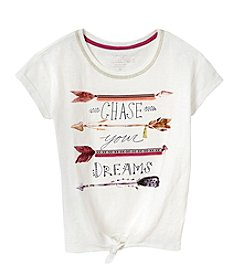 Jessica Simpson Girls' 7-16 Cassi Tie Front Blouse