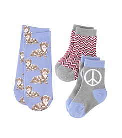 Miss Attitude Girls' Doggie Sub Crew Socks