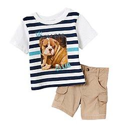 Nannette® Baby Boys Little Bulldog Set