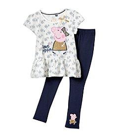 Peppa Pig Girls' 4-6X Peppa and Rose Print Legging Set