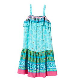 Sweet Heart Rose® Girls' 2T-6X Challis Dropwaist Dress