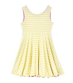Sweet Heart Rose® Girls' 2T-6X Striped Floral Flip N Twirl Dress