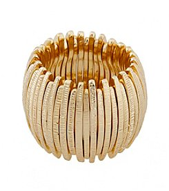 Erica Lyons® Extended Sizes Curved Bar Stretch Ring