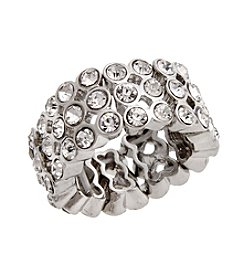 Erica Lyons® Extended Sizes Pavé Band Stretch Ring