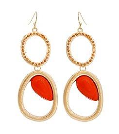 Erica Lyons® Extended Sizes Double Drop Pierced Earrings