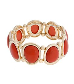 Erica Lyons® Extended Sizes Teardrops Stretch Bracelet