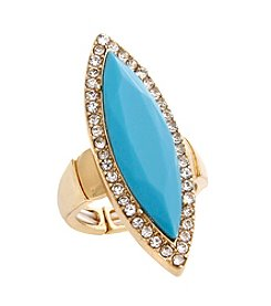 Erica Lyons Extended Sizes Navette Stretch Ring