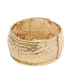 Erica Lyons® Extended Sizes Rectangles Stretch Bracelet