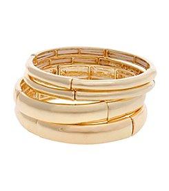 Erica Lyons® Extended Sizes Set Of Four Stretch Bangle Bracelet