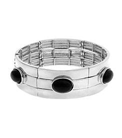 Erica Lyons® Extended Sizes Set Of Three Stretch Bangle Bracelets