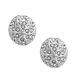 Erica Lyons® Extended Sizes Dome Pierced Earrings