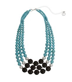 Erica Lyons® Extended Sizes Triple Row Necklace