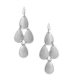 Erica Lyons® Extended Sizes Teardrop Kite Pierced Earrings