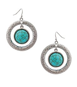 Erica Lyons® Extended Sizes Orbital Pierced Earrings
