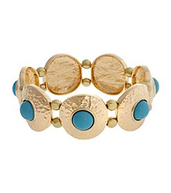 Erica Lyons® Extended Sizes Disks Stretch Bracelet