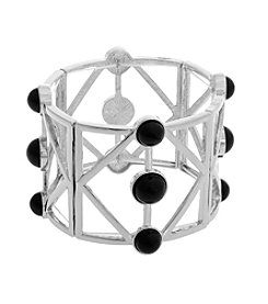Erica Lyons® Extended Sizes Geometric Stretch Bracelet