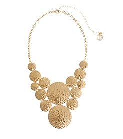 Erica Lyons® Hammered Bib Necklace