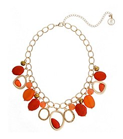 Erica Lyons® Extended Sizes Shaky Front Necklace