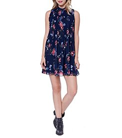 Skylar & Jade™ Pleated Floral Swing Dress