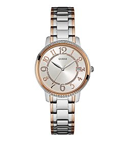 GUESS Women's Classic Crystal Accented Midsize Watch