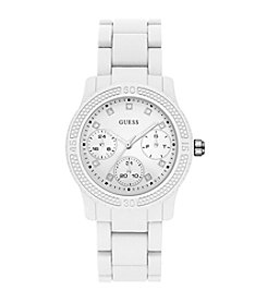 Guess® Women's White Sport Watch