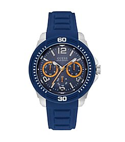 Guess® Men'sTextured Silicone Sport Watch