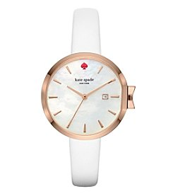 kate spade new york® Leather Park Row Watch