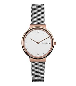 Skagen Ladies Box Set With Necklace And Ancher Watch