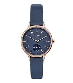 Skagen Women's Anita Rose Goldtone And Silicone Watch