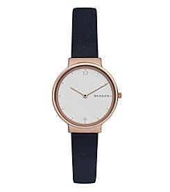 Skagen Women's Ancher Watch With Leather Strap
