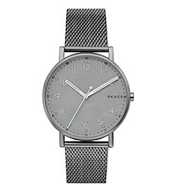 Skagen Men's Signature Watch In Titanium With Mesh Stainless Steel Strap