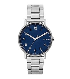 Skagen Men's Signature Watch In Stainless Steel Links With Dial
