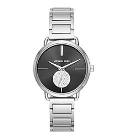 Michael Kors® Women's Portia Stainless Steel Two Hand Sub Eye Watch