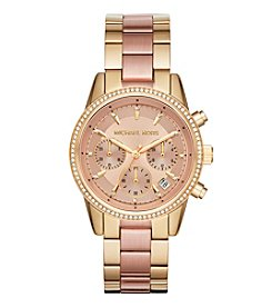 Michael Kors® Ritz Rose Goldtone Chronograph Watch