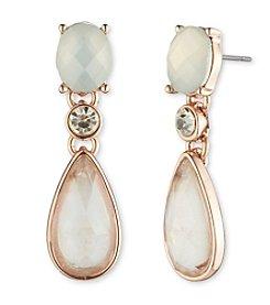 Anne Klein® Faceted Stone Triple Drop Earrings
