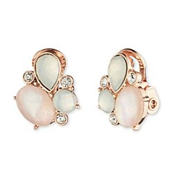 Anne Klein® Cluster Clip On Earrings