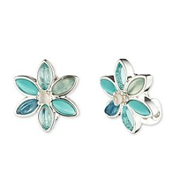 Anne Klein® Flower Clip Earrings
