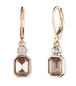 Anne Klein® Simulated Crystal Double Drop Earrings
