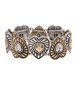 L&J Accessories Heart Links Stretch Bracelet