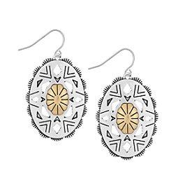 The Sak® Oval Concho Drop Earrings